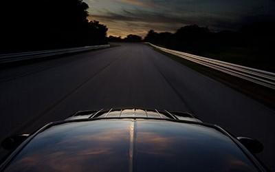 Chrysler Crossfire Track Sunset