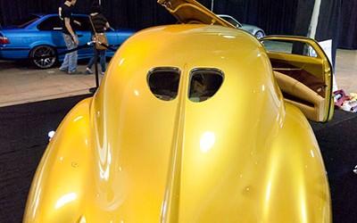 OC Car Show - Lead Sled Custom Gold