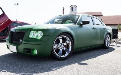 Chrysler 300 custom matte green paint