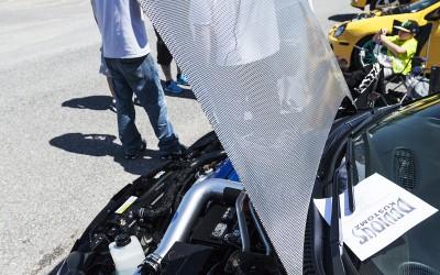 Dodge neon SRT 4 custom mesh hood