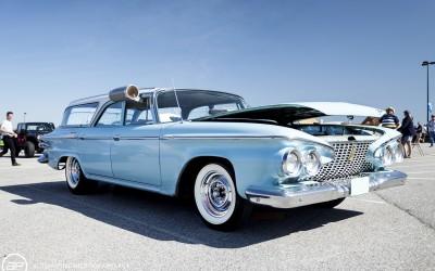Plymouth wagon 4 door blue