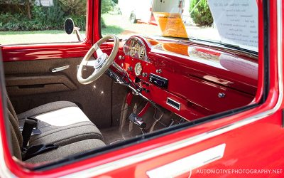 1956 Ford F100 Pickup Truck Red Interior
