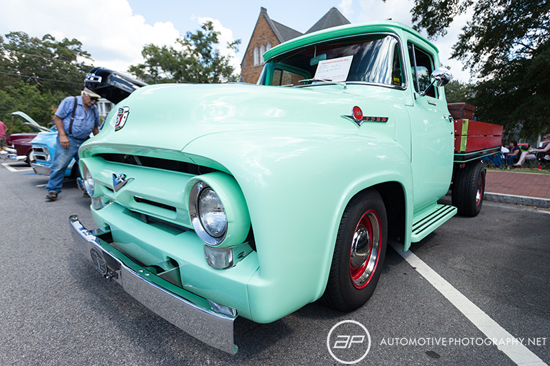 2 Generation Ford F100 Stake Bed Pickup Truck Green