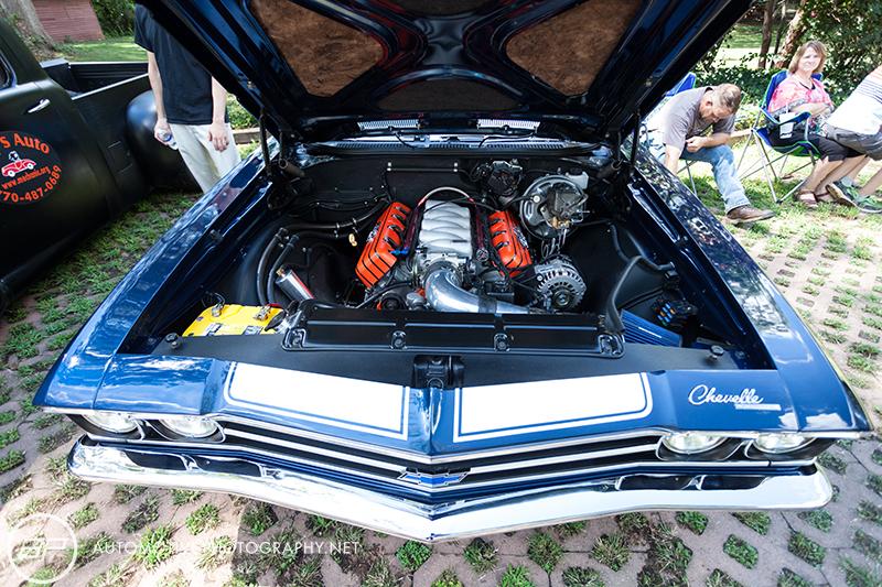 Chevrolet Chevy Chevelle LS Blue 2 Door - Engine