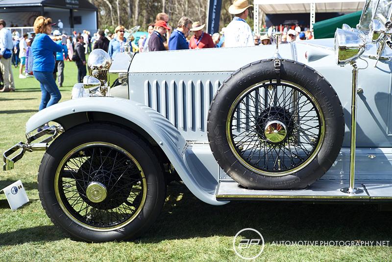 1925 Rolls Royce Phantom I Barker Tourer Tiger Hunting Car Silver Blue