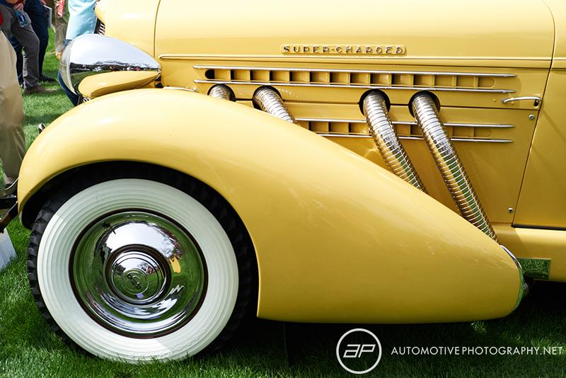 1930s Auburn Eight Supercharged Speedster Yellow