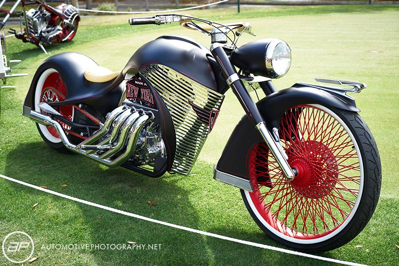 Custom Built New York Black Motorcycle - Amelia Island Cars and Coffee