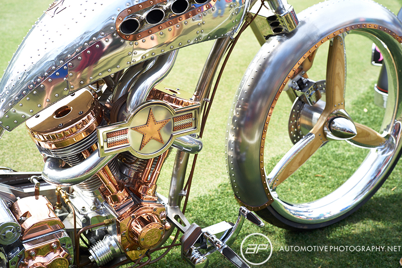 Custom Built Unfinished Metal Motorcycle - Amelia Island Cars and Coffee